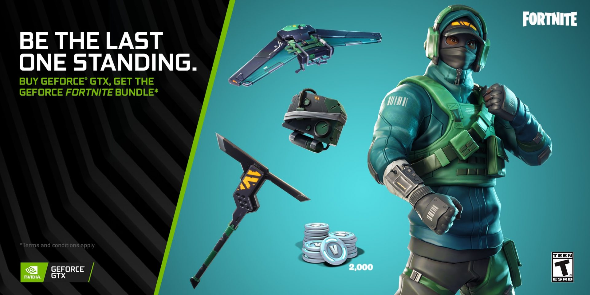 Buy GeForce GTX, Get Fortnite Counterattack Set and 2000 V