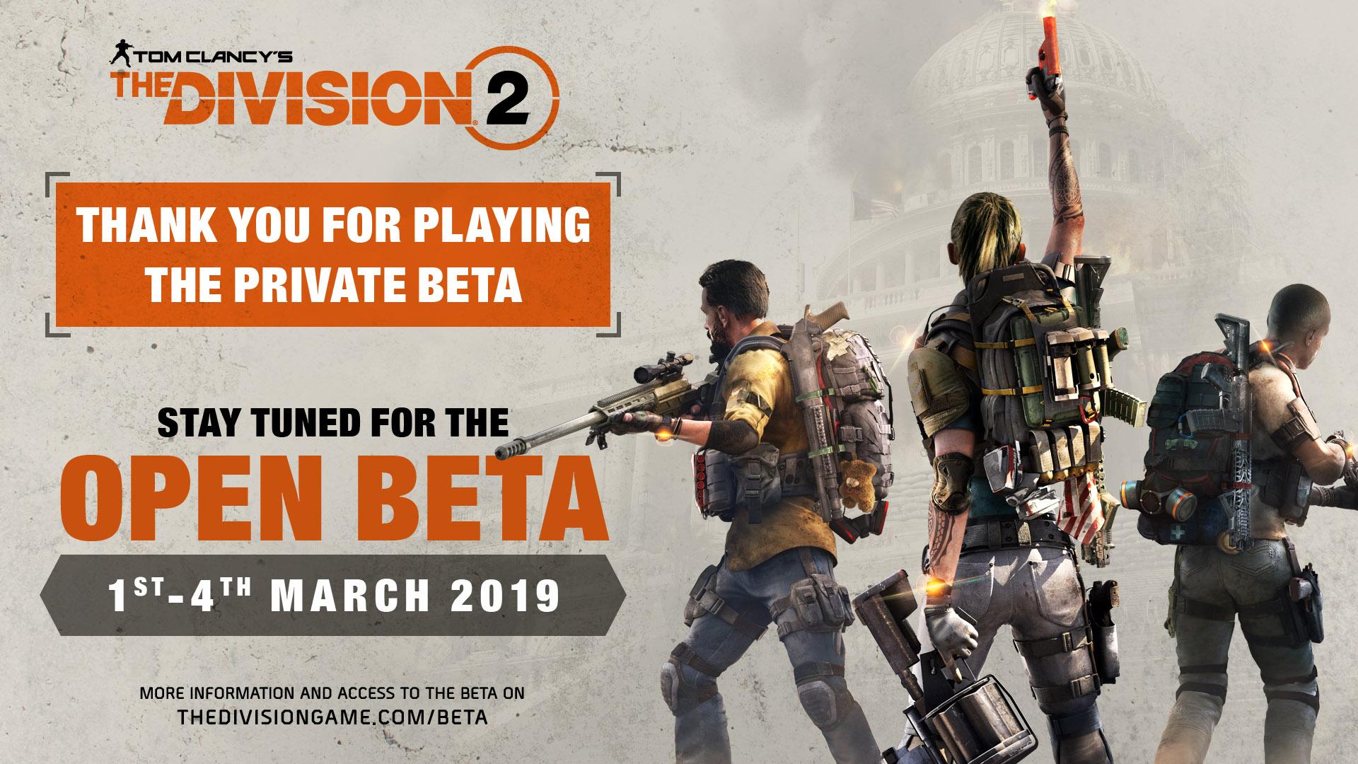 ubisoft division 2 private beta