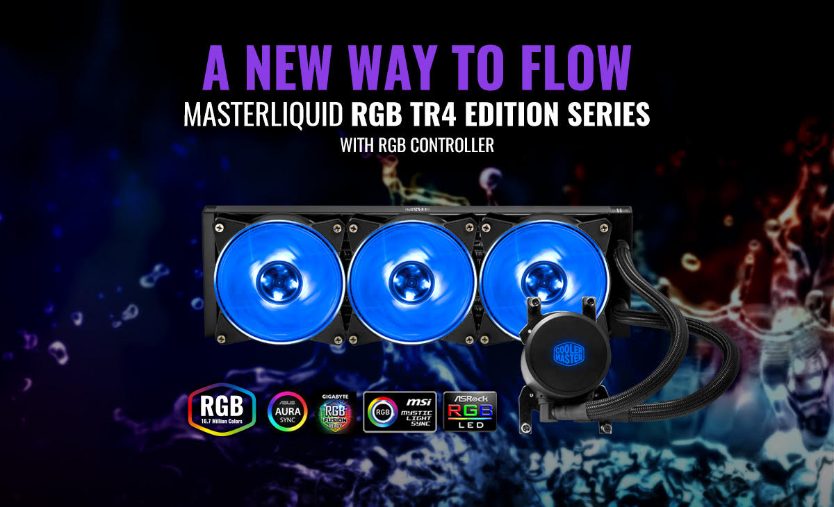 Cooler Master Announces the MasterLiquid ML240 & ML360 RGB TR4